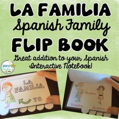 Reinforce Spanish Family Vocabulary using this flipbook. Plus blank flipbook for students to create their own.