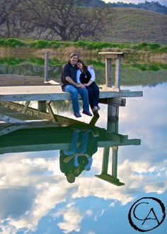 Engagement shoot down by the pond at Taber Ranch | By Christopher Armstrong Photography