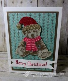 Stamp & Scrap with Frenchie: Video Pop Up Book Fancy Fold Blog Hop, Baby Bear, Stampin'Up!