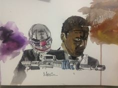 Payday 2 watercolor