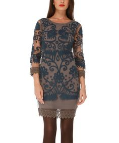 Love this Blue & Gray Krystal Dress on #zulily! #zulilyfinds