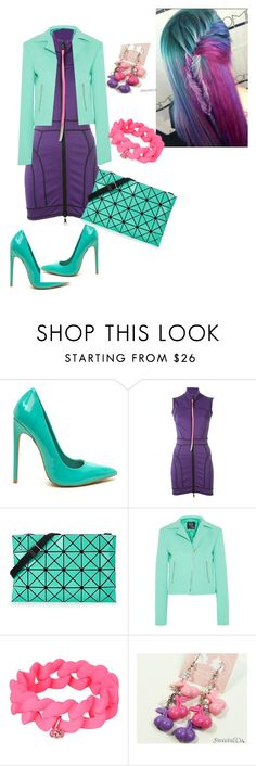 """Teals"" by prissygurla1 ❤ liked on Polyvore featuring Dsquared2, Bao Bao by Issey Miyake, McQ by Alexander McQueen, Marc by Marc Jacobs and Sweet & Co."