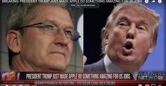 VIDEO: Apple announces it is coming home due to Trump's plan to impose import tariffs 11/22/16