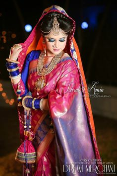 love the colour!!!#Bangladesh bride #Bengali #India