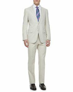 M0AGS Ermenegildo Zegna Sateen Two-Piece Suit, Tan