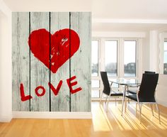 for outside  Eazywallz  - Love Symbol Wall Mural, $115.10 (http://www.eazywallz.com/love-symbol-wall-mural/)