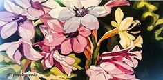 "ColumbineAcrylicSM by Joie McClements Acrylic ~ 24"" x 48"""