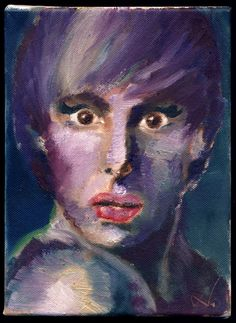 oil painting of sacha baron cohen as bruno