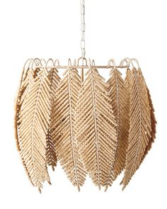 Grand in scale but relaxed in vibe, this statement chandelier has plenty of natural style. With exceptional artistry, each individual bead is carved and strung by hand onto a whimsical, leaf-inspired design. An abaca-wrapped frame ties everything together and adds to the beautifully organic look. Boho Diy, Boho Decor, Lauren Liess, Hand Wrap, Rose Cottage, Farmhouse Design, Farmhouse Style, Rustic Charm, Beautiful Roses