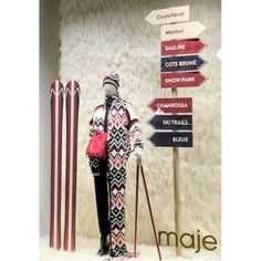 """MAJE, Paris, France, """"The Ski-Slopes are calling... And I must go"""", for The APRÈS-SKI Capsule Collection, pinned by Ton van der Veer"""