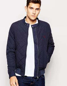 Jack+Wills+Quilted+Bomber+in+Navy