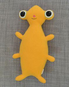 Yellow Plush Monster Stuffed Animal Jasper by chasingmystar