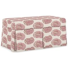Marin Fabric Skirted Storage Bench (1.750 BRL) ❤ Liked On Polyvore  Featuring Home,
