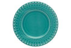 Fantasy Dessert Plate, Turquoise