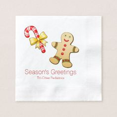 Holiday Treats Custom Christmas Napkins