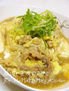 すき焼き風♡豚と豆腐の卵とじ