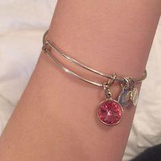 October birthstone alex&ani bracelet. Siver Silver Alex&ani October birthstone bracelet Alex & Ani Jewelry Bracelets