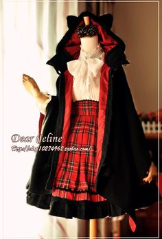 Dear Celine Black Devil Kitten Cape  Loved it because I thought it was velvet, but its not.