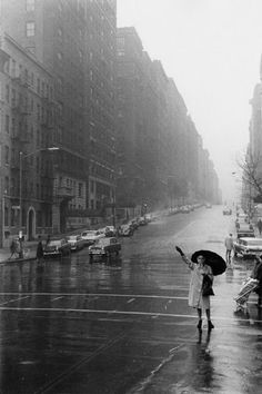 New York in the rain