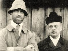 Last known photograph of Grand Duke Michael Alexandrovich and his secretary, taken in Perm shortly before their murder by the Bolsheviks in June 1918.