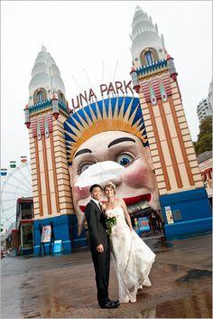 Wedding at Sydney's Luna Park!