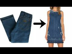 Fashion Sewing, Denim Fashion, Gilet Jeans, Diy Fashion Hacks, Denim Crafts, Recycled Denim, Clothing Hacks, Diy Dress, Jeans Dress