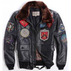 Black Leather Fashion Motorcycle Bomber Jacket Clothing for Men SKU-116027