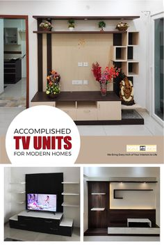 Modern luxury living room tv cabinets for your home with astounding features enhances your home with eternal grace. Modern Tv Unit Designs, Modern Tv Units, Top Interior Designers, Interior Design Companies, Living Room Tv Cabinet, Tv Cabinets, Best Interior, Luxury Living, Modern Luxury