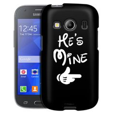 Samsung Galaxy Ace Style He's Mine on Black Case