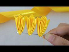Amazing Ribbon Flower Work - Hand Embroidery Flowers Design - Sewing Hacks - Easy Flower Making - Amazing Ribbon Flower Work – Hand Embroidery Flowers Design – Sewing Hacks – DIY Easy Flower - Ribbon Art, Diy Ribbon, Ribbon Crafts, Flower Crafts, Fabric Crafts, Diy Crafts, Ribbon Sewing, Ribbon Rose, Nylon Flowers