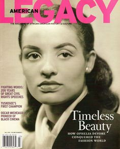 """One of the first African American models in the United States, Ophelia DeVore-Mitchell changed the face of the beauty and fashion industry. Through her modeling agency and school, she fostered and promoted the careers of some of the country's top African American models, entertainers and television personalities. Over the years, DeVore-Mitchell added newspaper owner and publisher, business executive, producer and consultant to her long list of accomplishments."""