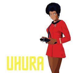 Uhura - Star Trek Star Trek, Snow White, Disney Characters, Fictional Characters, Disney Princess, Starship Enterprise, Snow White Pictures, Sleeping Beauty, Fantasy Characters