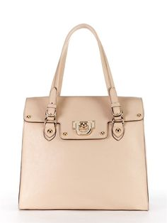 "The perfect ""any job"" handbag. I own it in black, tan and pewter, but I'm loving this new vanilla shade too. Hmmmm."