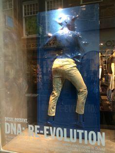 Pinned by Ton Van der Veer Denim Display, Diesel Denim, Jeans Store, Retail Concepts, Retail Windows, Visual Display, Brand Story, Made Clothing, Retail Shop