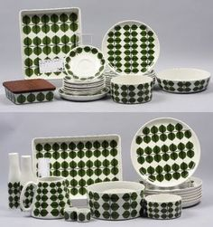 Porcelain set designed by Stig Lindberg