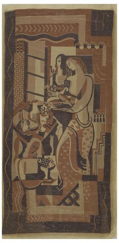 Figures with Still Life. Ruth Reeves, W.& J. Sloane,1930. Gift of Alfred Auerbach.1970-44-1