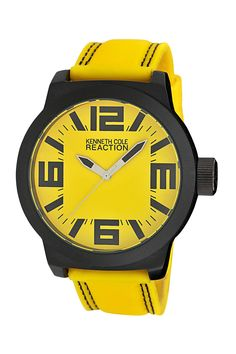 Kenneth Cole Reaction  Men's Yellow Dial & Strap
