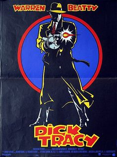 """Dick Tracy  """"I'm on my way""""...Very rare original French Petite movie poster from 1990 for the Madonna starring Warren Beatty directed stylised comic book thriller """"Dick Tracy""""...A very nice distinctive looking poster (probably the best image from the series) that is an ideal size to have framed and display. With only a single foldline it truly is very impressive.  This and other fine film posters are available from The Movie Poster Specialists at www.vintagemovieposters.co.uk"""