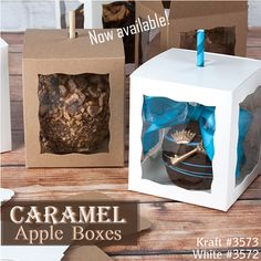 Caramel Apple Boxes available at BRP Box Shop