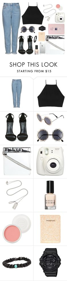 """""""Untitled #97"""" by esmechee ❤ liked on Polyvore featuring Topshop, rag & bone, Shoe Cult, Fantas-Eyes, Fujifilm, McQ by Alexander McQueen, Bobbi Brown Cosmetics, Christian Dior, ASOS and Casio"""