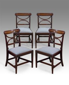 Fine quality pair of early Regency mahogany dining chairs. Moulded ...