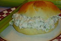 Chicken Salad for Sandwiches from Food.com: Simple old-fashioned chicken salad which is perfect for sandwiches or stuffing tomatoes. Although the recipe calls for boiling uncooked chicken leftover chicken would also work fine and give wonderful flavor to the chicken salad. Recipe source: local newspaper