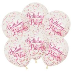 Birthday Princess Confetti filled balloons-one stop kids party shop