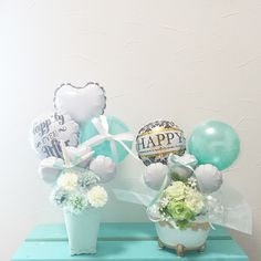 こんにちは♡  チャビーバルーンです 大人気 ティファニーブルーの バルーン電報のご紹介です☺︎ 左から TiffanyBlue Fifth  Avenue special Table top type  http://chubbyballoon-gift.com/?pid=89362225  TiffanyBlue Luxury Geniality ミニギフト Table top type  http://chubbyballoon-gift.com/?pid=90468278  です☺︎⭐︎ これから夏の結婚式に向けて 受付に飾っていただいても とってもかわいいですよ♡☺︎ もちろん 遠く離れた友人や、家族の方への お誕生日プレゼントなどに ぜひご利用いただけます♡☺︎ いつでもお問い合わせくださいませ♡☺︎ バルーンを通して たくさんのかたに HAPPYをお届けできますように…  チャビーバルーン