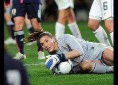 Hope Solo in the 1-1 draw vs. Japan #USWNT