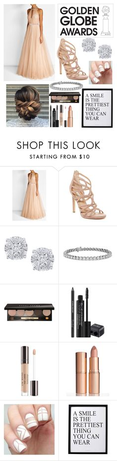 """""""Golden Globe Awards"""" by abbie0987 ❤ liked on Polyvore featuring Jenny Packham, Diane Von Furstenberg, Effy Jewelry, Blue Nile, Bobbi Brown Cosmetics, Rodial, Lumière, Charlotte Tilbury and 3R Studios"""
