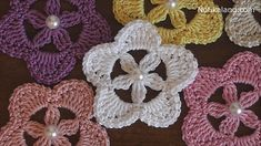 Crochet Flower Tutorial #crochet #crochetflower #freecrochetpatterns #diy #handmade