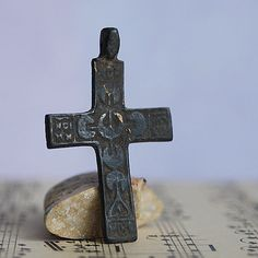 ANTIQUE cross...  most likely XVII century...   by CoolVintage, $33.50