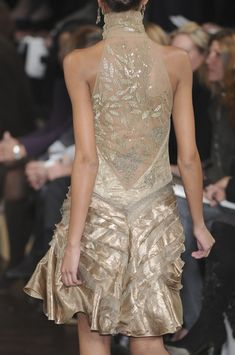 Ralph Lauren Fall 2009- love this, would love to see the front. via Cindy London-O'Donnell