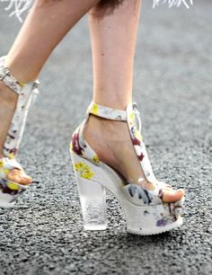 Spring/Summer 14 = The Block Heel. Chunky heels with vibrant prints were seen everywhere.